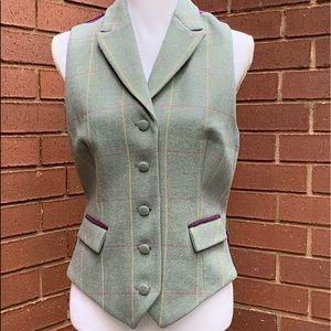 Tartan Wool Vest Made in England